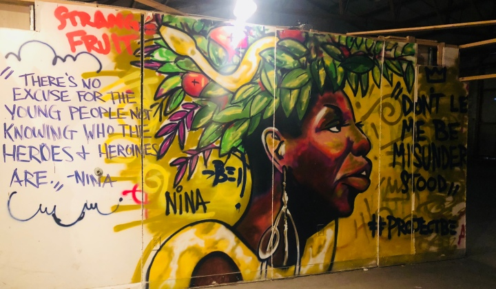 Brandan Odum's mural in Studio Be in New Orleans